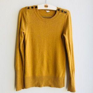 J.Crew Factory Merino Wool Blend Sweater Mustard